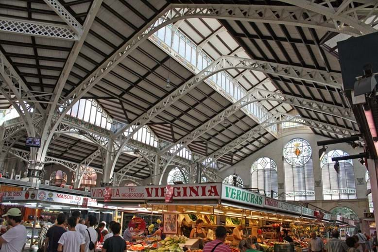 Interior do Mercat Central