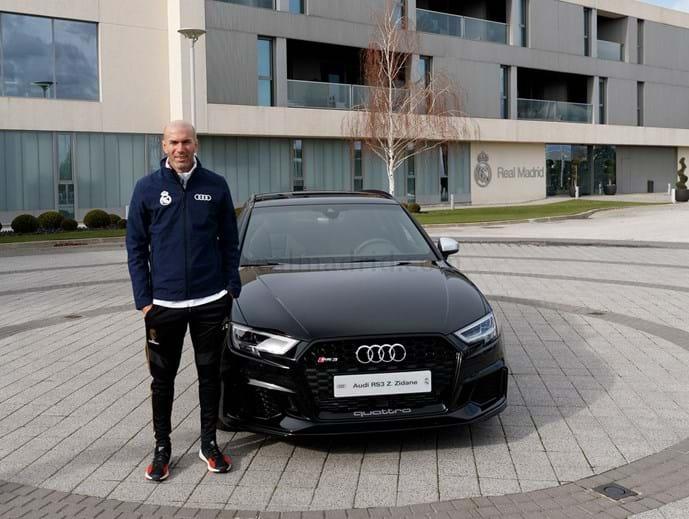 Zidane escolheu um RS 3 Sportback TFSI quattro S tronic, avaliado em 67.310 mil euros.