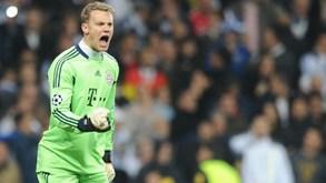 'Tubarões' europeus atentos a 'birra' de Manuel Neuer com o Bayern Munique