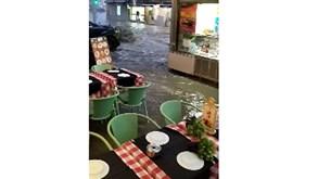 «Que loucura»: chuva intensa surpreende comerciantes na Baixa de Lisboa