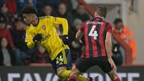 Bournemouth-Arsenal: por um lugar nos 'oitavos' a Taça
