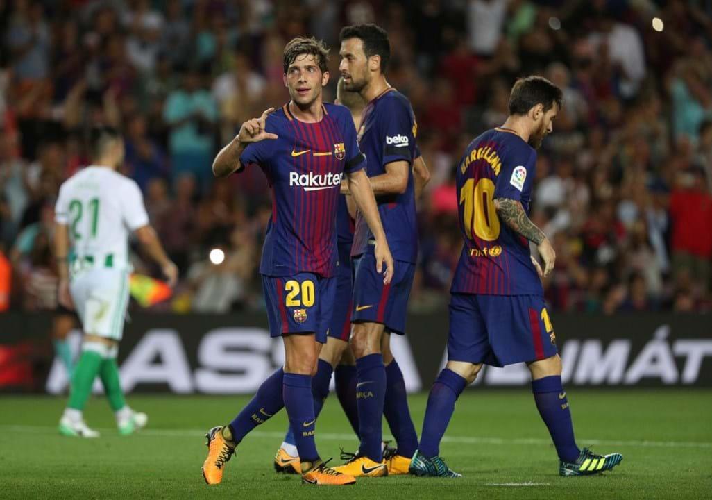 Sergi Roberto, a recuperar de lesão. Treinador do Barcelona espera poder contar com defesa