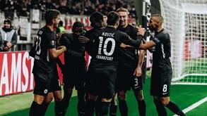 Eintracht Frankfurt-Union Berlim: equipa de André Silva e Gonçalo Paciência em ação