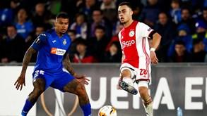 Ajax-Getafe: holandeses tentam impedir surpresa