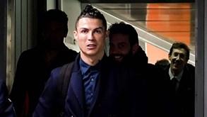 Cristiano Ronaldo cheio de apetite