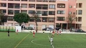 Filho de Artur Moraes mostra dotes de goleador pelos traquinas do Benfica