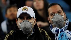 Adeptos 'protegidos' contra o coronavírus em Madrid e Lyon