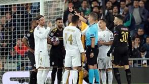Após expulsão, Sergio Ramos passa a ser recordista de cartões em tudo o que 'mexe'