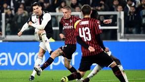 Juventus-AC Milan: Ronaldo em duelo da Taça de Itália