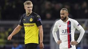 PSG-Dortmund: Haaland e Neymar no frente-a-frente por um lugar nos 'quartos' da Champions