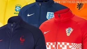 Portugal, Inglaterra ou Brasil: revelados casacos das seleções para os próximos torneios