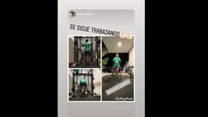 Música, halteres e muita vontade: Marcos Acuña mostra como manter a forma física em casa