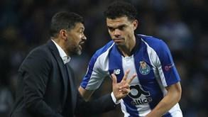 Pepe elogia Sérgio Conceição: «Espero que fique muitos anos»