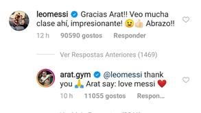 Miúdo iraniano dedicou vídeo a Messi e o argentino respondeu assim