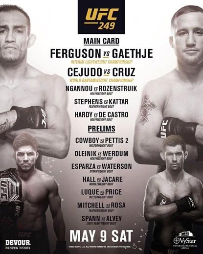UFC anuncia regresso dos combates: o primeiro é já daqui a duas ...