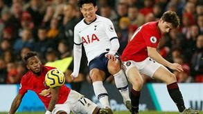 Tottenham-Manchester United: Mourinho com regresso complicado