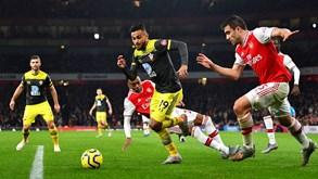 Southampton-Arsenal: gunners em mau momento