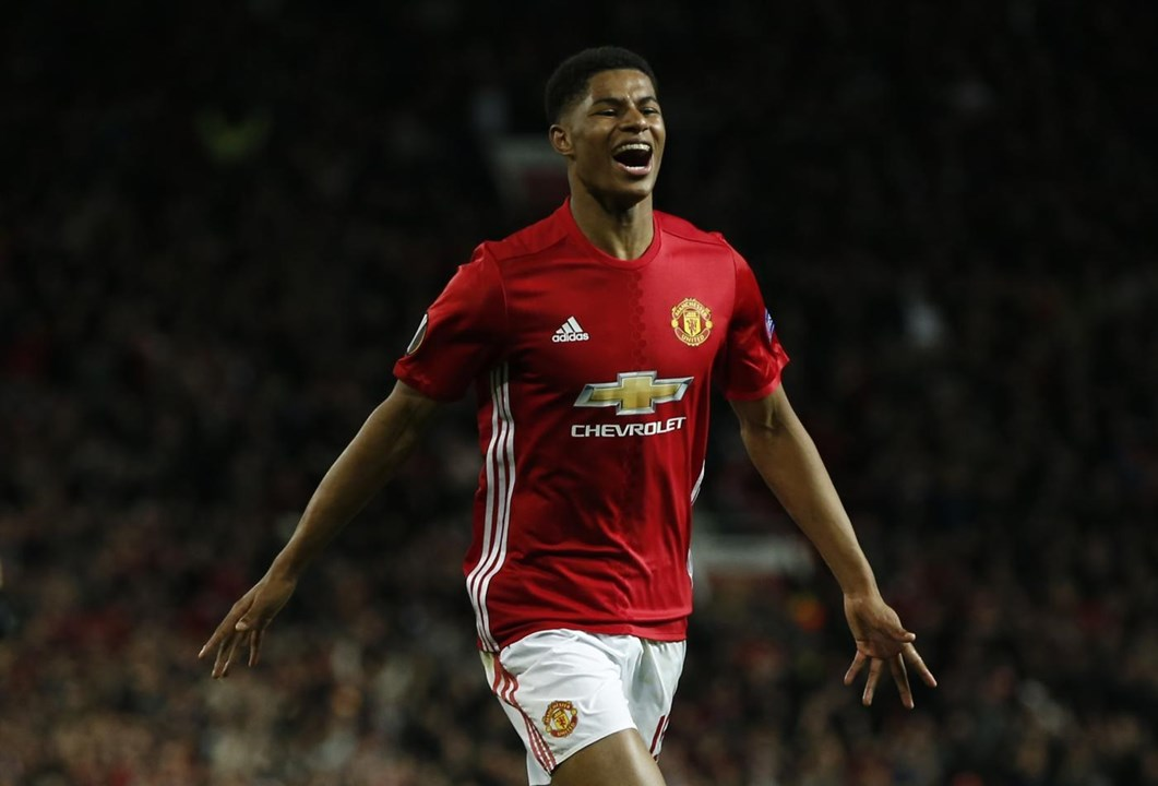 7.º Man. United - na foto: Rashford