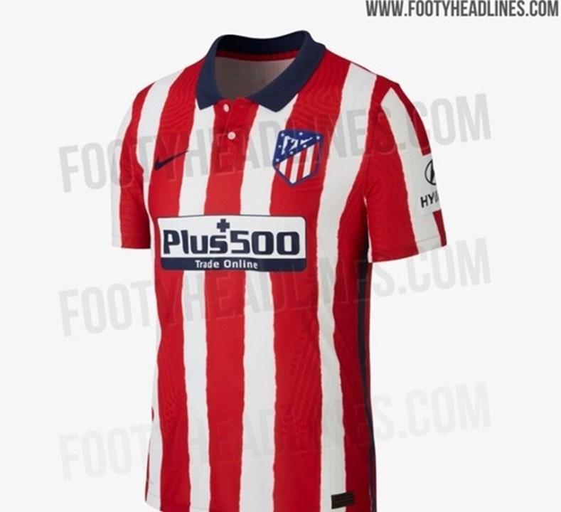 Equipamento principal do Atlético Madrid para 2020/21