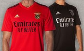 Equipamento principal e alternativo do Benfica para 2020/21