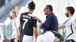 Sarri revela o que Cristiano Ronaldo lhe disse após golo de livre