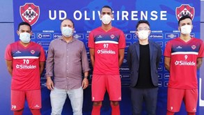 UD Oliveirense apresenta mais três reforços
