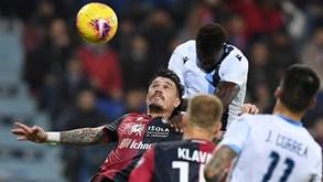 Lazio-Cagliari: turma da capital tenta regresso às vitórias