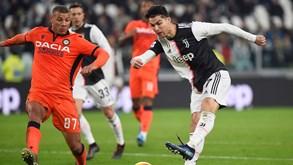 Udinese-Juventus: Vecchia Signora embalada ao ritmo de Cristiano Ronaldo