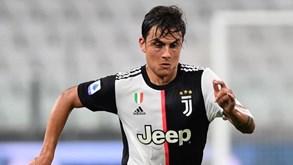 Juventus confirma lesão de Dybala e argentino está em dúvida para a Champions