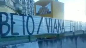 «É tempo de dizer basta»: Juve Leo mostra tarjas de contestação nas imediações de Alvalade