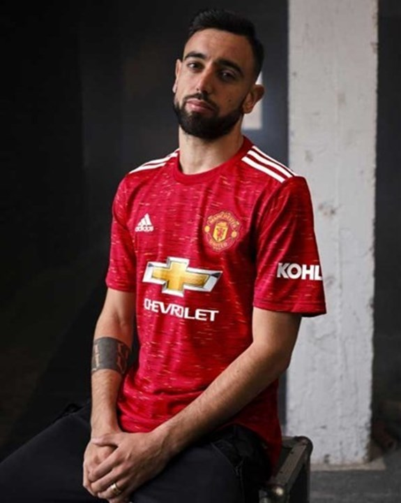Equipamento principal do Manchester United para 2020/21