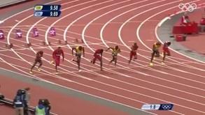 Os 100 metros mais rápidos da história olímpica: registo voador de Bolt foi há oito anos