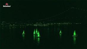 Lisboa 'pintada' de verde em evento para promover a Champions