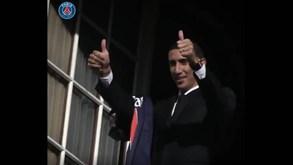 Paris SG recorda dia em que Di María assinou pelo clube
