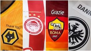 Wolves, Olympiacos, Roma e Eintracht e os equipamentos especiais dedicados aos profissionais de saúde