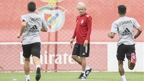 Jesus focado e Luisão por perto: as imagens que marcam o primeiro treino do Benfica 2020/21