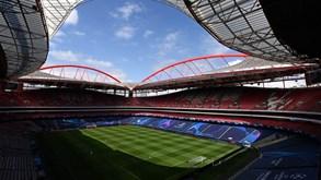 Estádio da Luz já veste as decorações da Liga dos Campeões