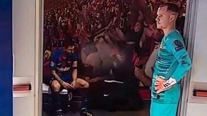 A arrasadora imagem de Messi que é o retrato da noite de pesadelo do Barcelona