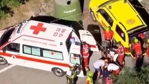 Ciclista belga cai em ravina na Volta à Lombardia: imagens são impressionantes