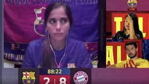 «7-2... Acho que já não dá para a reviravolta»: a frase da comentadora da Barça TV que corre o Mundo