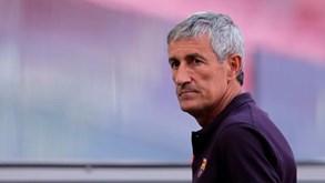 Presidente do Barcelona confirma saída de Quique Setién