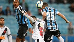 Vasco da Gama-Grêmio: série ganhadora dos cariocas em jogo
