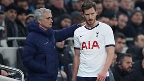Vertonghen: «Não tenho nada contra Mourinho»