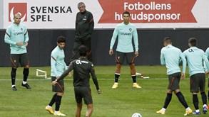 O onze de Portugal para o jogo com a Suécia