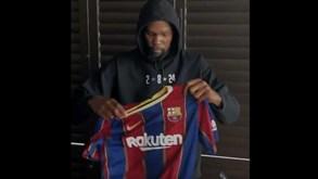 Griezmann muda para camisola com história no Barcelona e quem o anuncia é... Kevin Durant