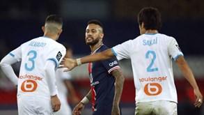 TV espanhola 'apanha' suposto comentário homofóbico de Neymar a jogador do Marselha