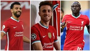 Diogo Jota à frente de Mané e Salah na lista dos 20 mais caros da história do Liverpool