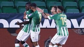 Getafe-Betis: William Carvalho em ação na Liga espanhola