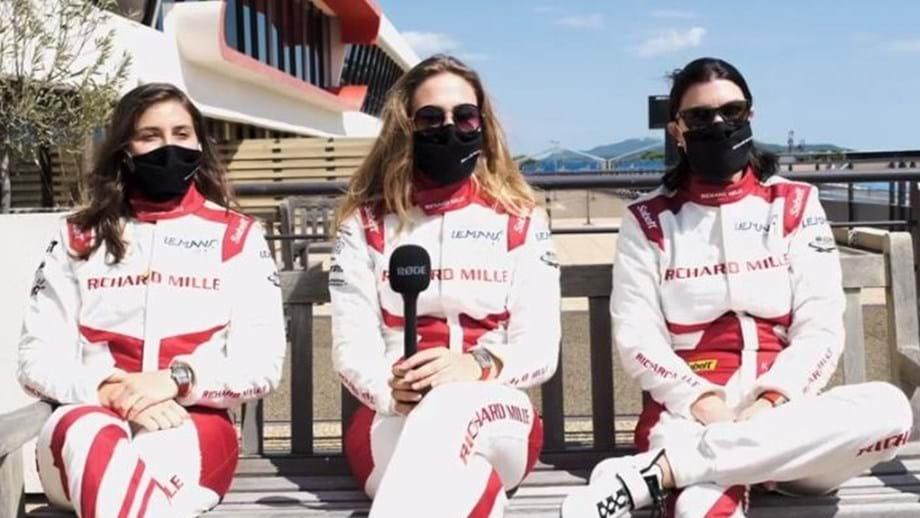 Calderón, Flörsch e Visser: Primeira equipa 100% feminina a acelerar nas 24 horas de Le Mans
