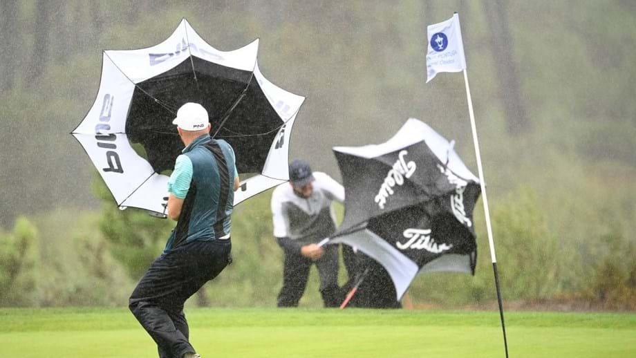 Open de Portugal: Stephen Ferreira supera ventos e tempestades, Vítor Lopes lidera